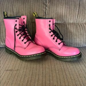 Hot pink Dr. Martins